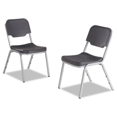 Iceberg Rough 'N Ready Stack Chairs, 4-Pack ICE64117, Gray (UPC:674785641170)