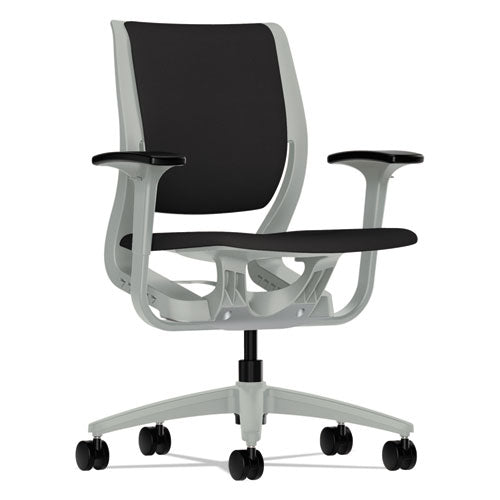 HON Traction High-Back Executive Chair, Center-Tilt, Black Leather ; UPC: 089191578031; Image 1