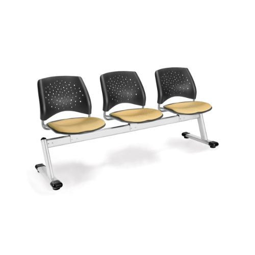 OFM Stars 3-Unit Beam Seating with 3 Seats; UPC:845123006726