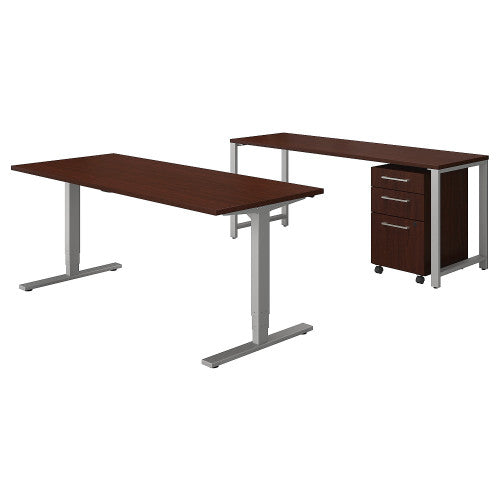 Bush 400 Series 72W Height Adjustable Standing Desk with Storage, Harvest Cherry 400S192CS ; UPC: 042976060428 ; Image 1