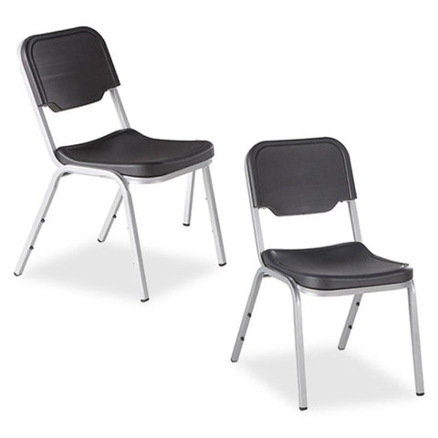 Iceberg Rough 'N Ready Stack Chairs, 4-Pack ICE64111, Black (UPC:674785641118)