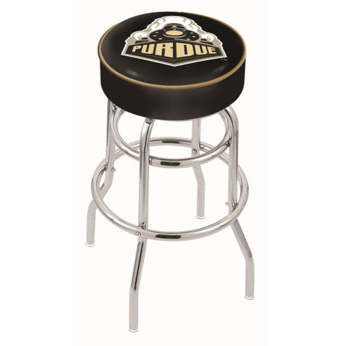 "25"" Purdue Cushion Seat with Double-Ring Chrome Base Swivel Bar Stool by Holland Bar Stool Company ; UPC: 071235060800"