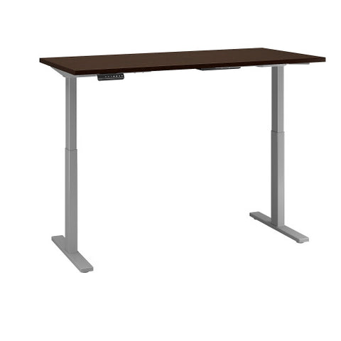Bush Move 60 Series 60W x 30D Height Adjustable Standing Desk, Mocha Cherry Satin M6S6030MRSSK ; UPC: 042976067908 ; Image 3