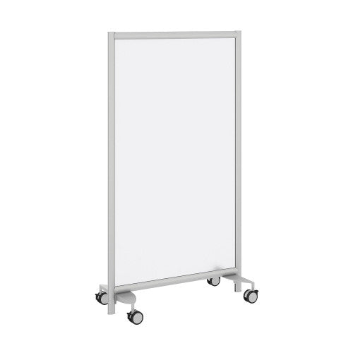 Bush Privacy Screens Freestanding Frosted Acrylic Screen with Wheeled Base, PSP635FRK ; UPC: 042976090630 ; Image 1