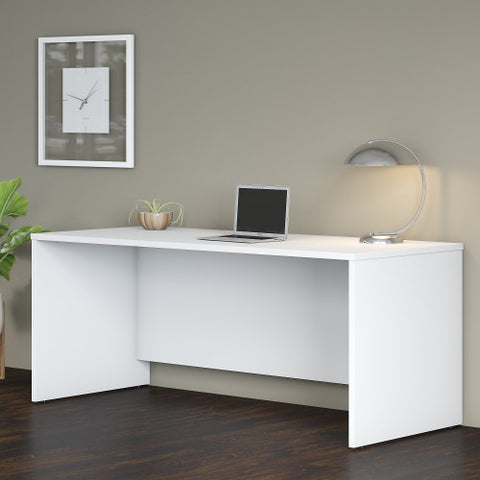Bush Studio C 72W x 30D Desk Shell, White SCD272WH ; UPC: 042976070564 ; Image 2