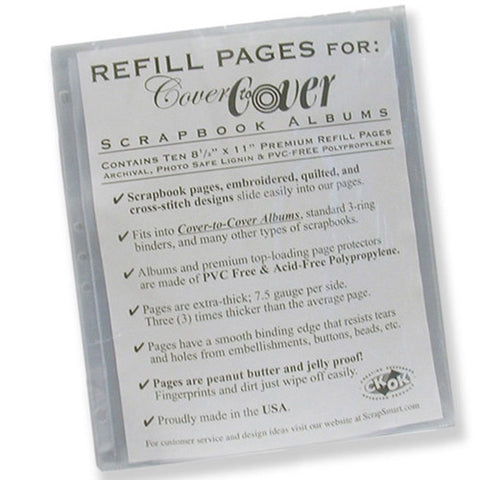 "8 1/2"" x 11"" Scrapbook Refill Pages by Scrapsmart"