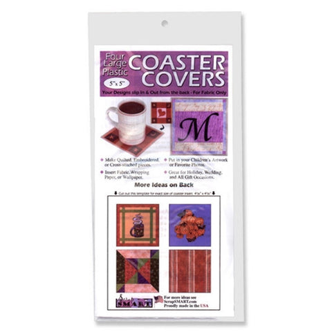4 Pack by Scrapsmart Clear Vinyl Mug Coaster Covers