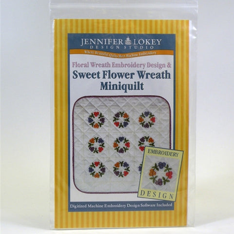 Sweet Flower Wreath Quilt CD by Jennifer Lokey
