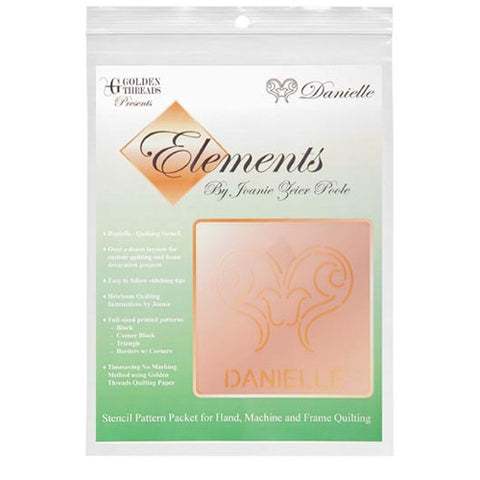 Danielle Element Stencil Packet By Golden Threads