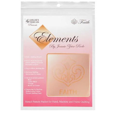 Faith Element Stencil Packet By Golden Threads