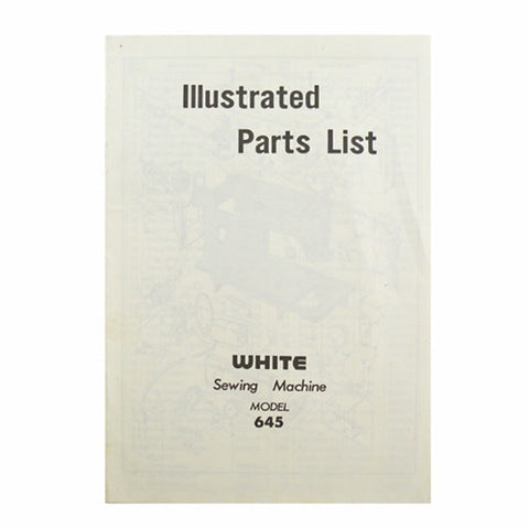 Illustrated Parts List for White 645