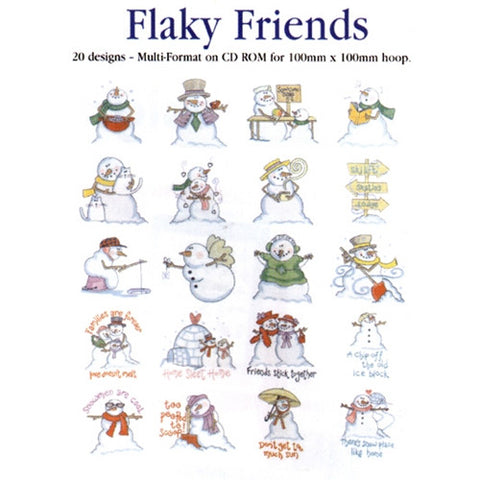 Flaky Friends Design CD by Inspira