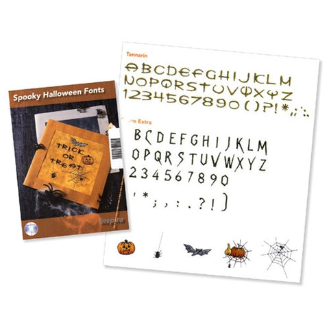 Spooky Halloween Fonts Design CD #17 by Inspira