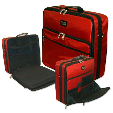 Red 19x17x5.5in. Tutto Medium Embroidery Bag