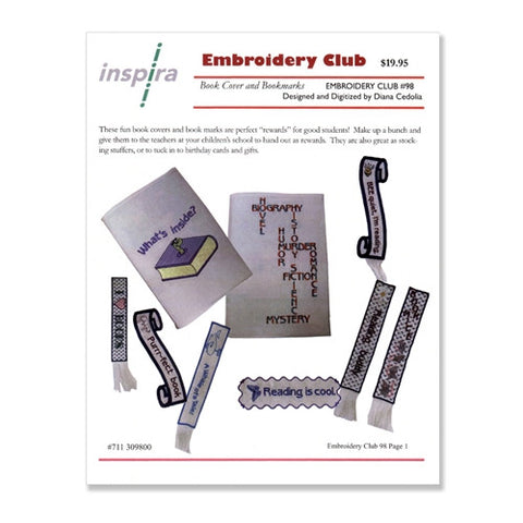 Book Covers & Markers Embroidery Club Disk #98