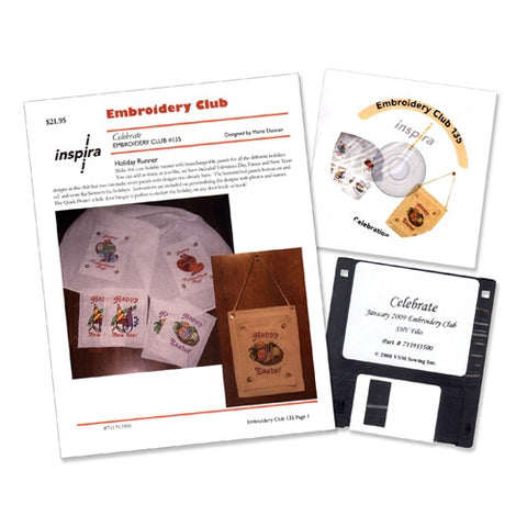 Celebrate Embroidery Club Disk #135