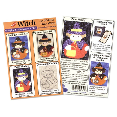 Witch Four Way Design CD By Sudberry House