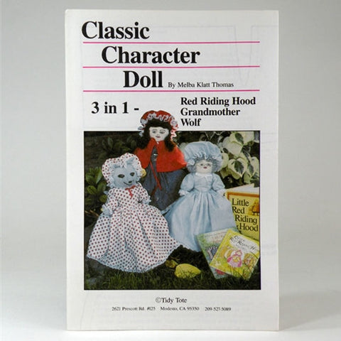 3 in 1 Character Doll Pattern by Tidy Tote