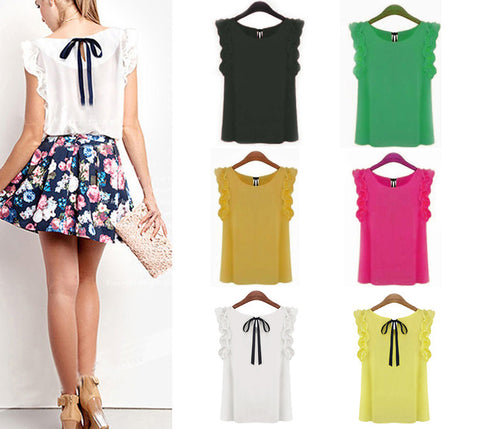 """Go To"" Blouse In A Rainbow Of Colors: black, yellow, fuschia, mustard, green, white"