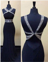 Black Prom Dresses,Beading Long Formal Dress SP3004