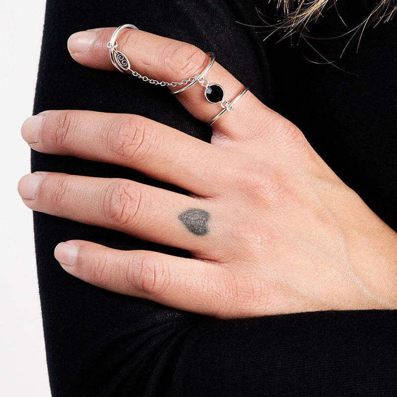 Vanessa Mooney The Myths Silver Triple Ring