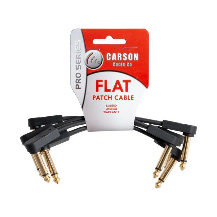Carson Pro Series 6 Inch Flat Patch Cable 4 Pack