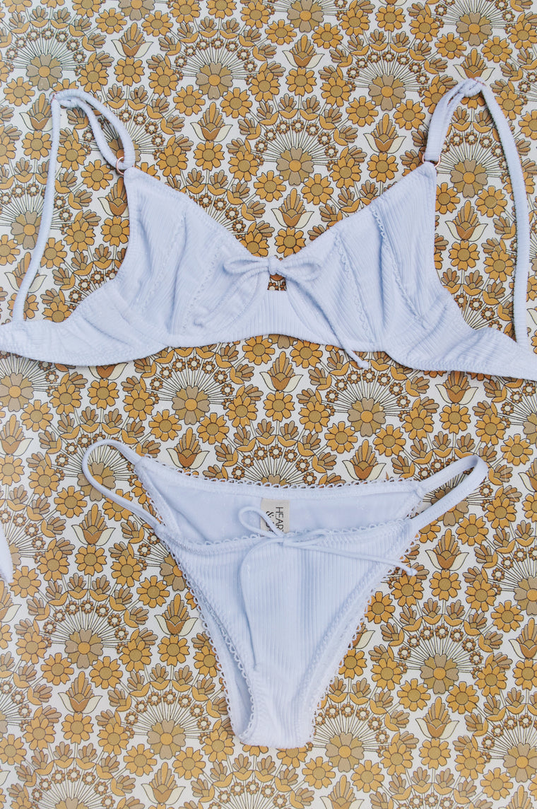 Cindy top: White rib