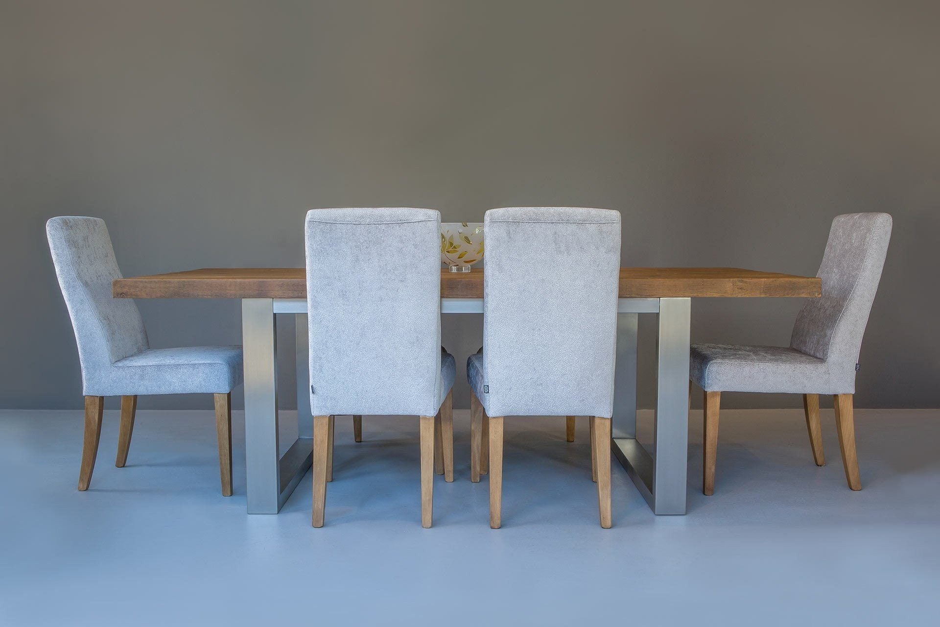 Warm 223cm Long Overhang Table with Annabel Chairs (Sold Separately)