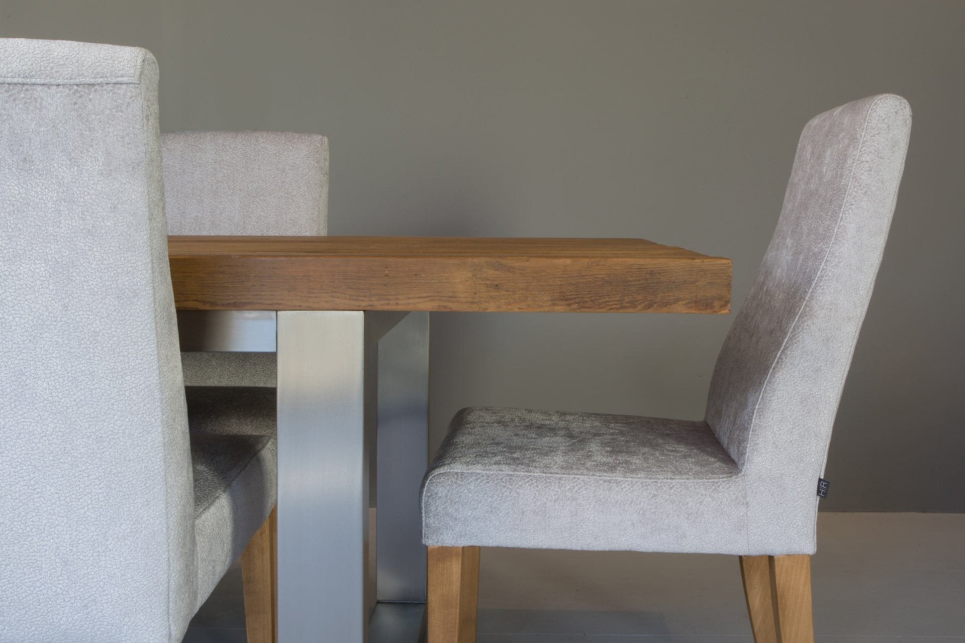 Warm Long Overhang Table With Annabel Chairs (Sold Separately)