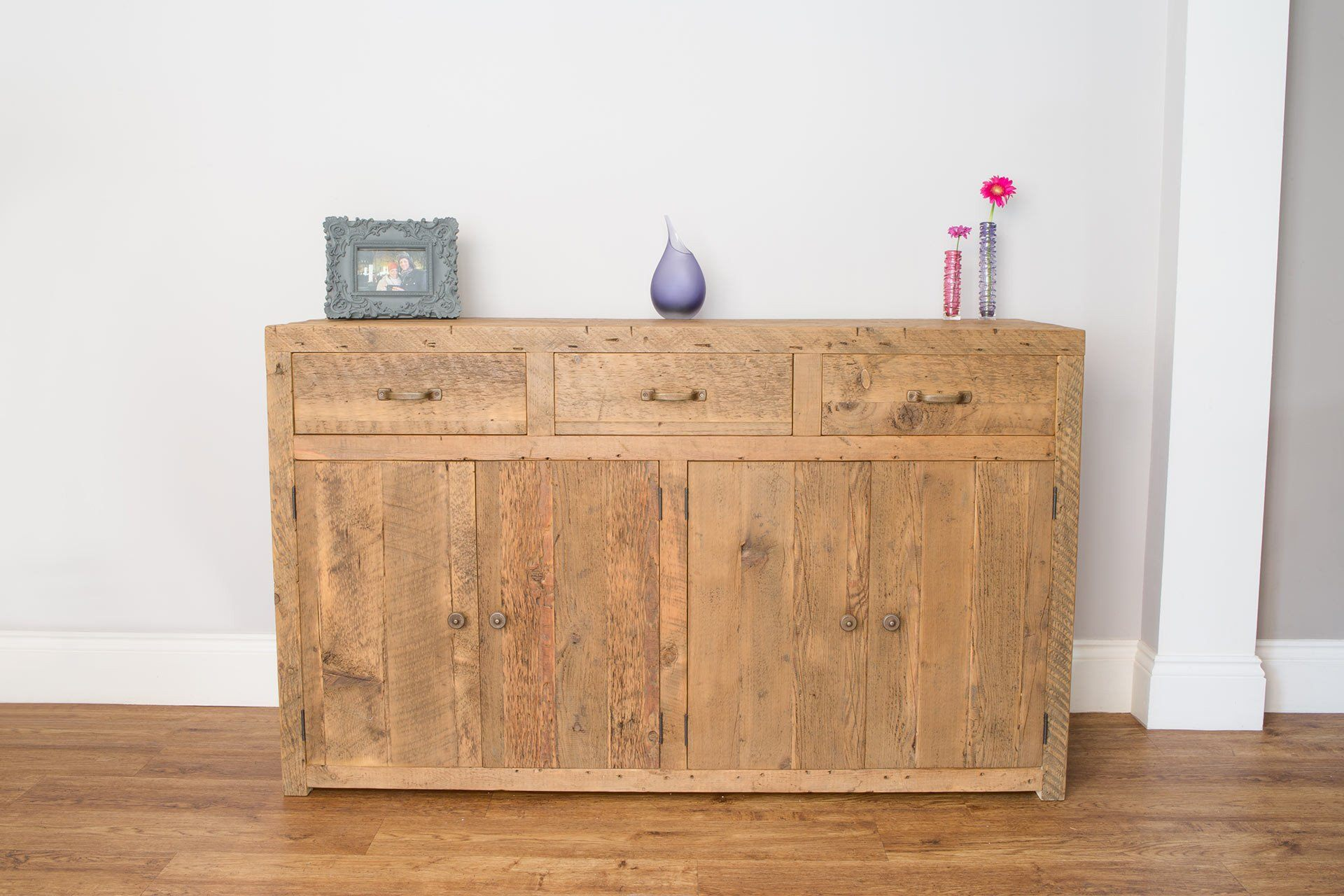 Warm 151.5cm Sideboard With Antique Handles & Knobs