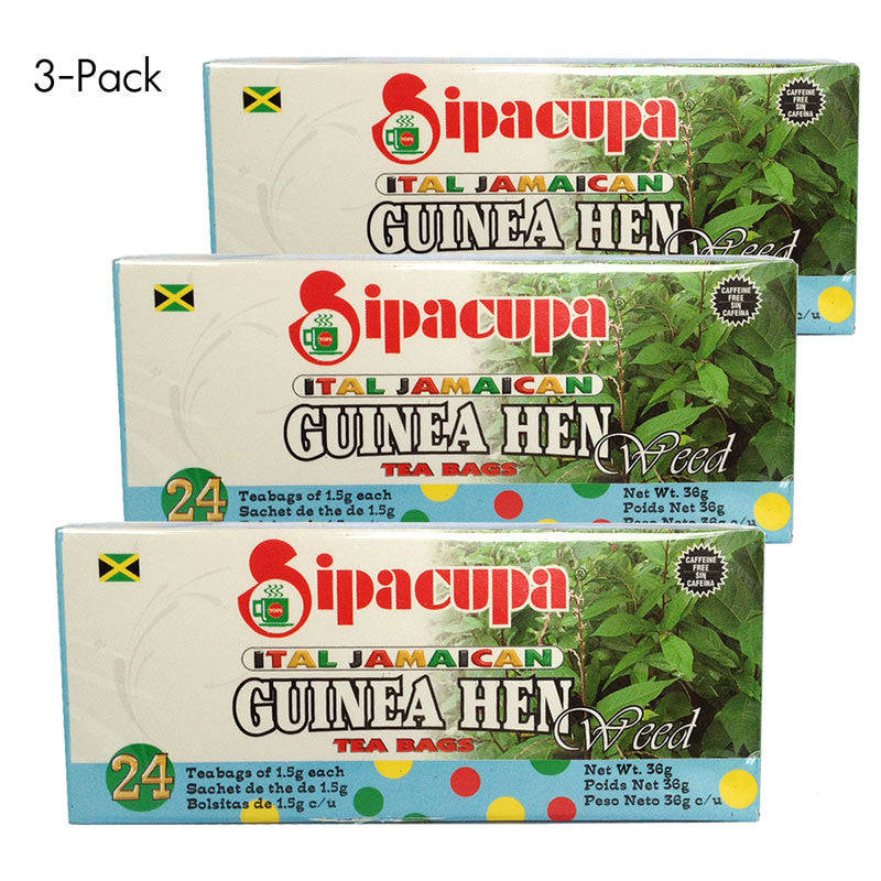 Guinea Hen Weed Tea (100% Roots and Leaves - Jamaican Anamu Tea) 3-PACK