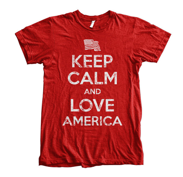 Keep Calm and Love America - Red