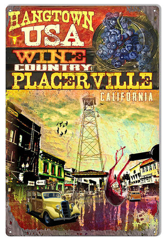 Wine Country Placerville Ca By Artist Phillip Hamilton 12″x18″