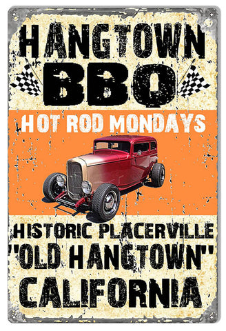 Hot Rod Placerville Ca Reproduction Sign By Artist Phil Hamilton 12″x18″
