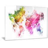 Colors of the World - Map Canvas Art PT2707