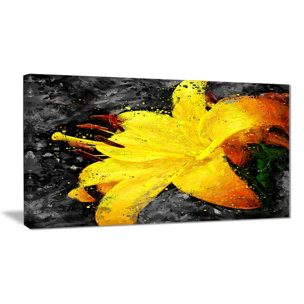 Yellow Lily - Floral Canvas Artwork