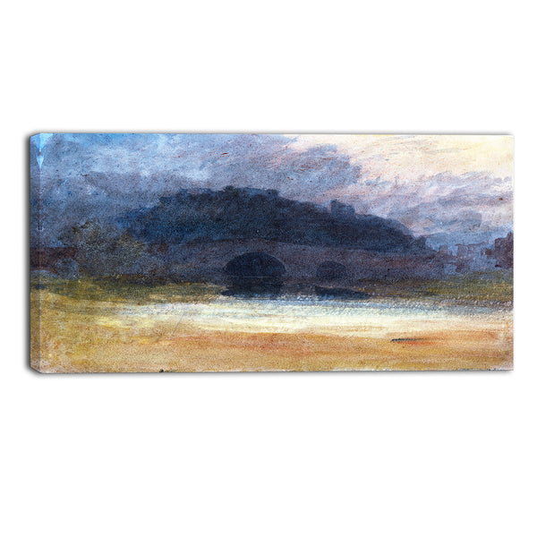 MasterPiece Painting - JMW Turner Evening Landscape with Castle