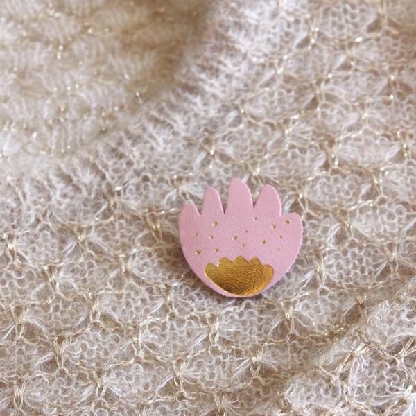 Flower Pin - Light Pink