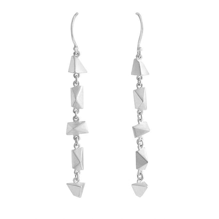 Sterling Silver and Black Spinel Coda Earrings