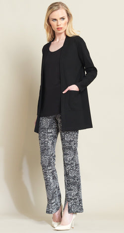 Ponte Pocket Cardigan  - Black - Clara Sunwoo