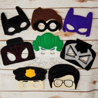 Superhero Block Men Masks