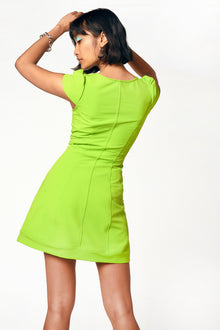 acid lime stretch dress