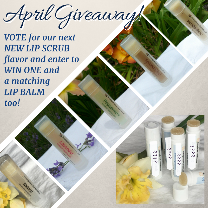 Enter our April Giveaway and Win a NEW Lip Scrub and a Lip Balm too!