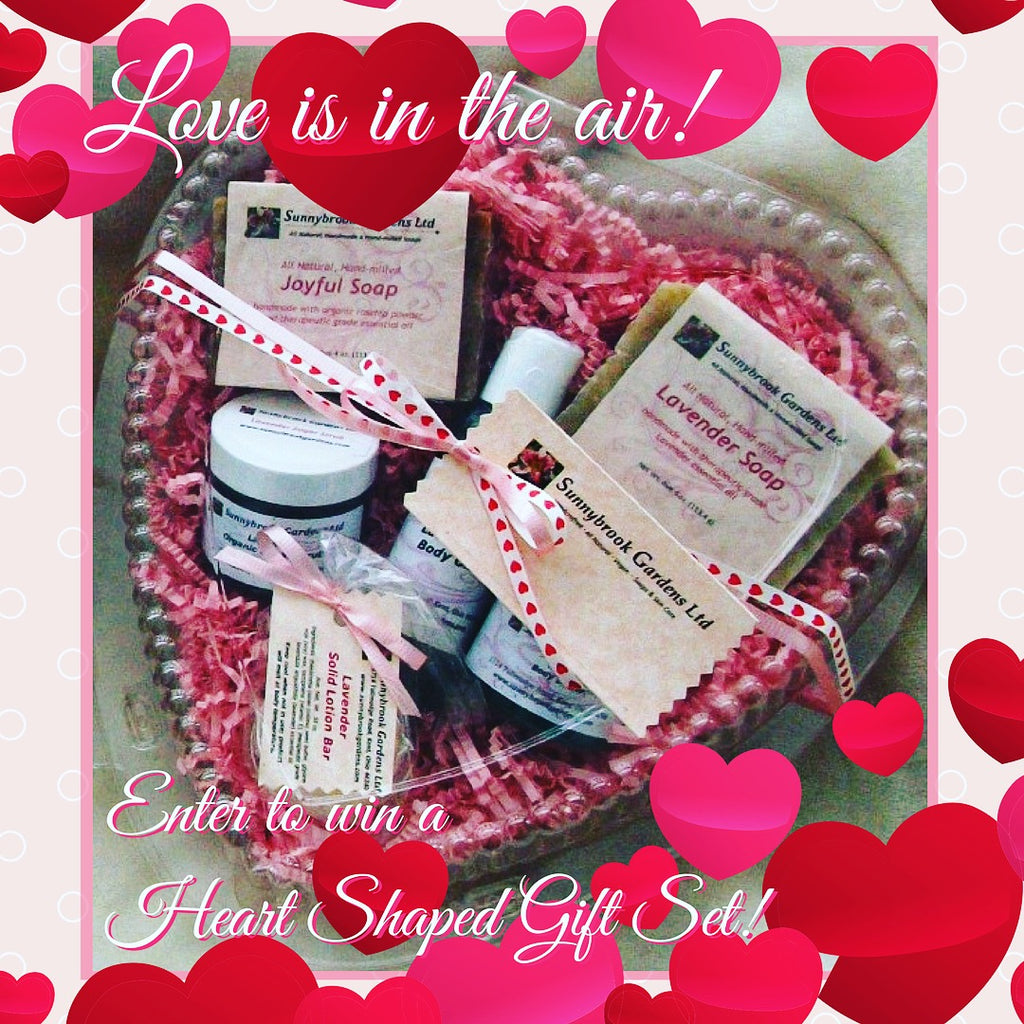 Enter to win a Heart Shaped Gift Set in our latest giveaway contest!