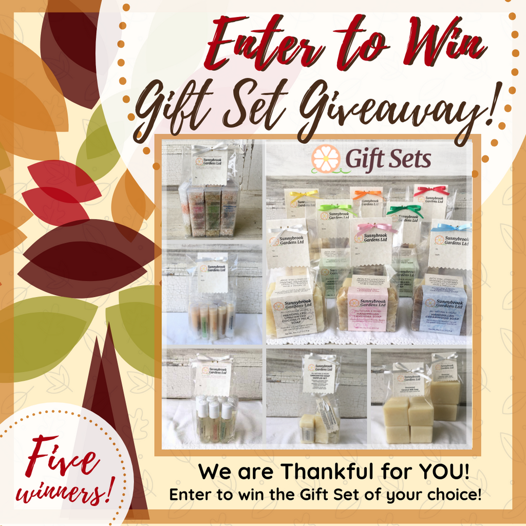 Enter to Win the Gift Set of Your Choice in our Holiday Gift Set Giveaway!
