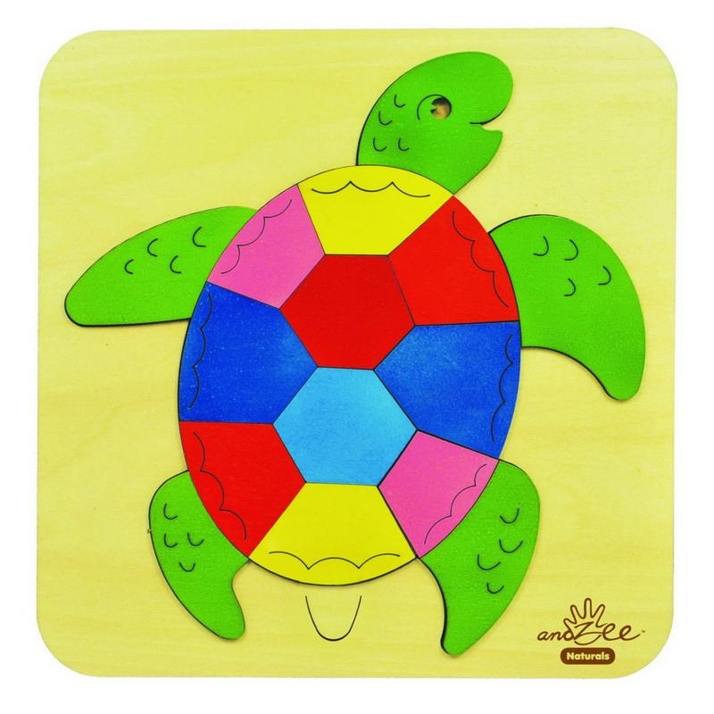 andZee Rainbow Turtle Raised Puzzle