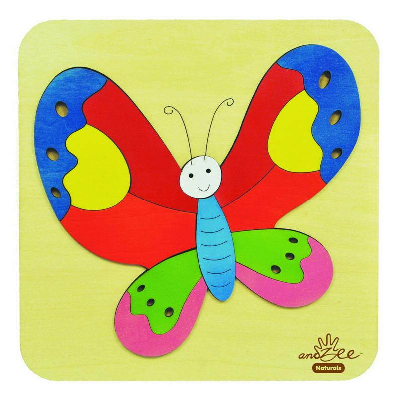 andZee Rainbow Butterfly Raised Puzzle