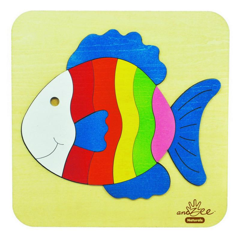 andZee Rainbow Fish Raised Puzzle
