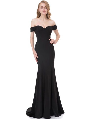 Chic Black Prom Dresses Mermaid Floor Length Simple Cheap Long Prom Dress AMY117