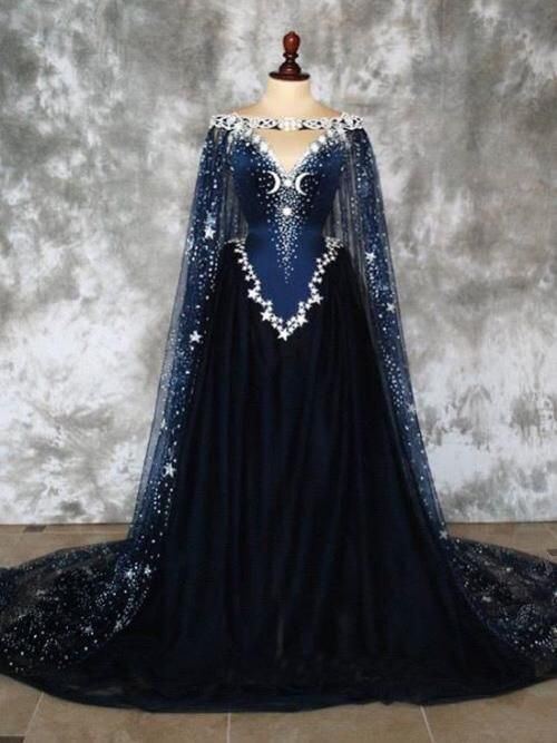 Dark Blue Prom Dresses A-line Sweep Train Chic Prom Dress Sparkly Modest Evening Dress AMY960